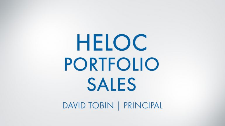 Featured image for HELOC Portfolio Sales With David Tobin