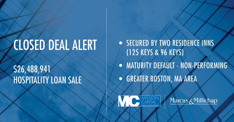 Featured image for CLOSED DEAL ALERT – $26,488,941 Hospitality Loan Sale