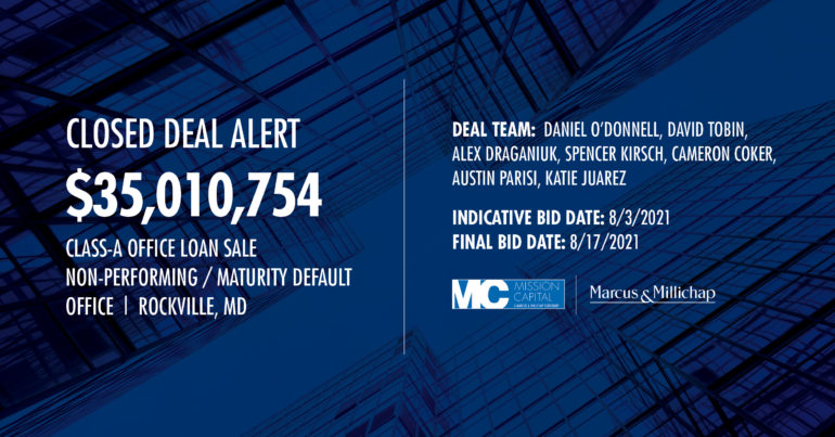 Featured image for CLOSED DEAL ALERT – $35,010,754 Class-A Office Loan Sale